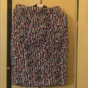 Catherine Malandrino Silk schirred skirt